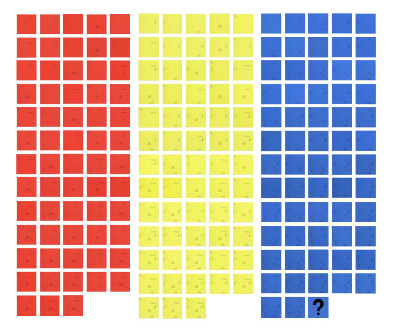 The Location of Lines in Color On Color