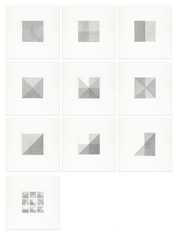 Squares with a Different Line Direction in Each Half Square