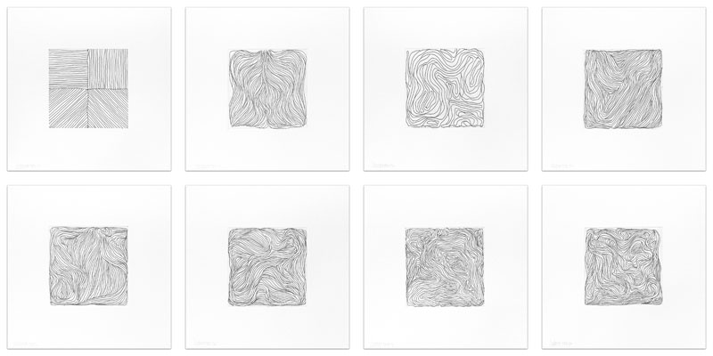 Eight Small Etchings / Black and White