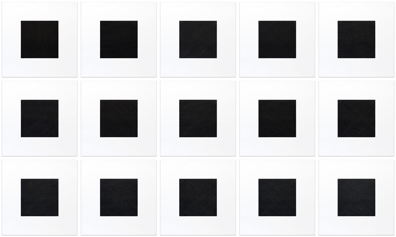 White lines on black squares: Not straight lines in four directions and all their combinations