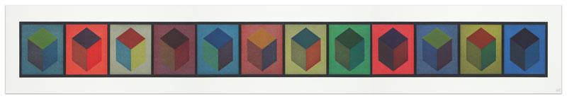 Twelve Cubes (Triptych)