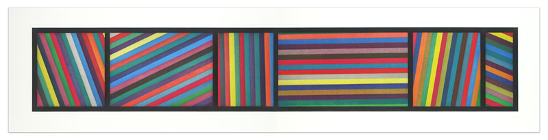 Bands of color in Different Directions (Diptych)