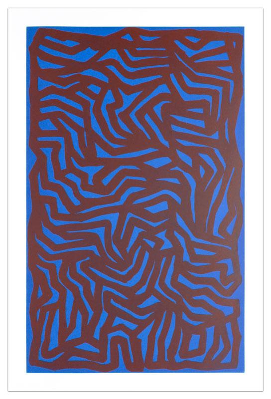 Loops & Curves Blue/Red