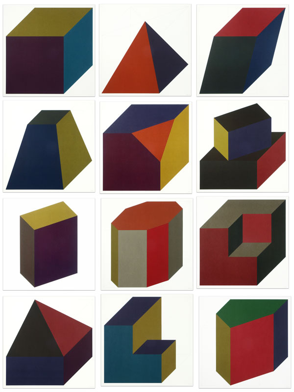 Forms Derived from a Cube (Colors Superimposed)