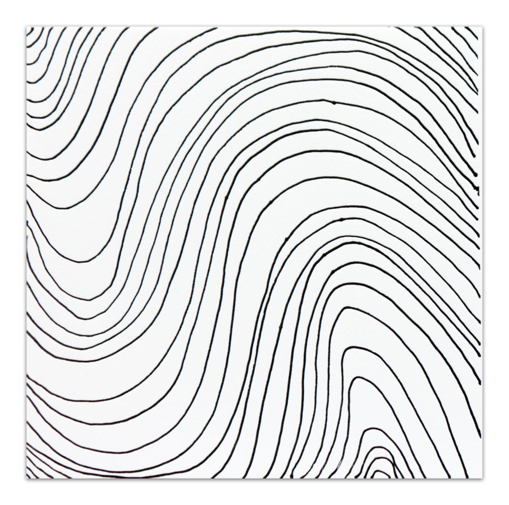Irregular Wavy Black and White Lines