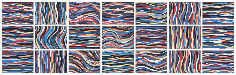 Brushstrokes:  Horizontal and Vertical