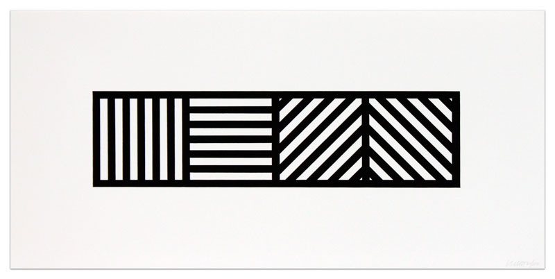 Lines in Four Directions, Black/White