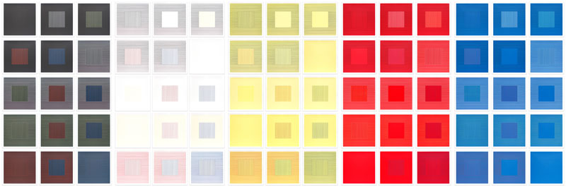 Lines in Two Directions & In Five Colors on Five Colors with All Their Combinations