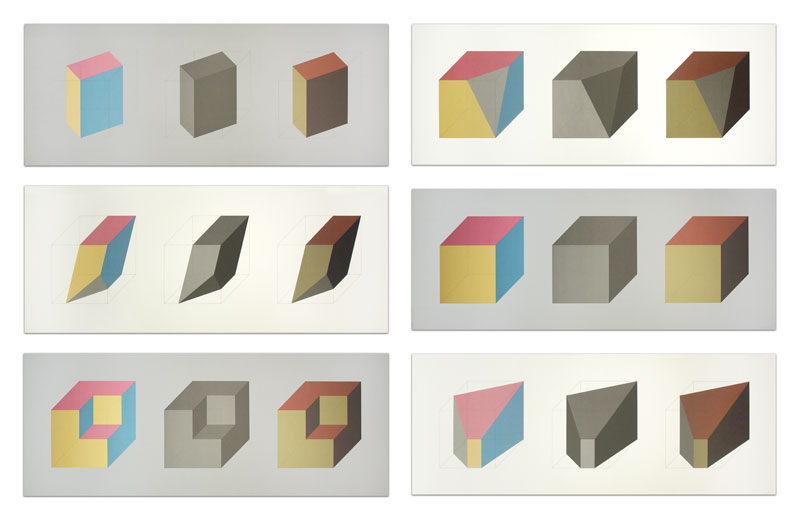 Forms Derived from a Cube in Color (Simple and Superimposed) & Black & Gray