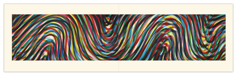Wavy Horizontal Lines (Diptych)